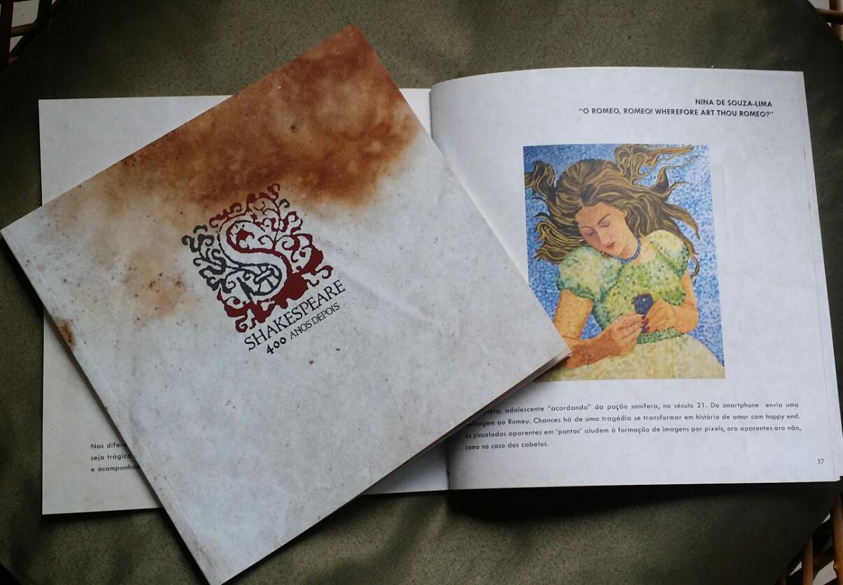 Catálogo da exposição William Shakespeare 400 Anos Depois. Produzido pela Secretaria de Estado de Cultura de Minas Gerais. [2016]